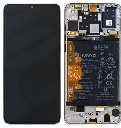 Ecran complet (châssis + batterie) d'origine Huawei P30 Lite