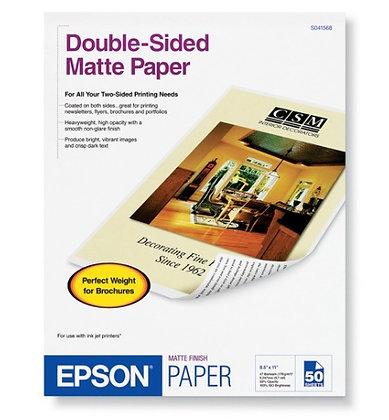Papel Matte doble cara caja c/50 hoja