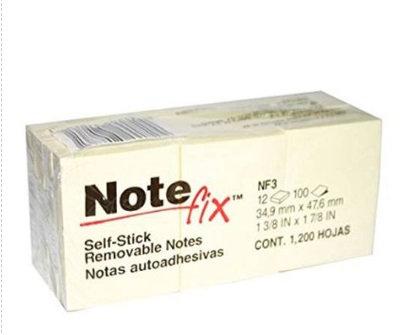 NOTAS ADHESIVAS NOTE FIX 3.49X4.76 CM