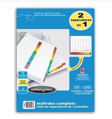 SEPARADOR MULTIDEX COMPLETE C/15 DIV