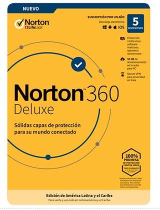 NORTON 360 DELUXE 5 DISPOSITIVO 1 AÑO