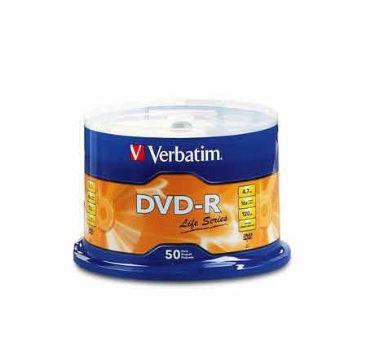 DVD-R LIFE SERIES 16X 50PK SP ST W/PR