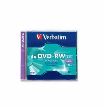 Verbatim DVD-RW 4,7GB 4X individual