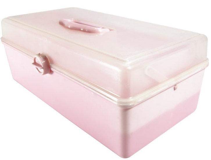Caja para herramientas o cosméticos con tapa