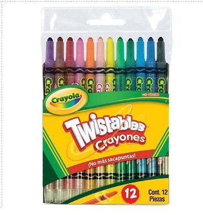 12 crayones twistables tam standar