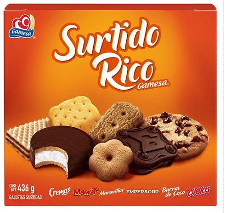 GALLETAS SURTIDO RICO 436 GRAMOS