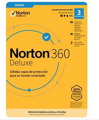 NORTON 360 DELUXE 3 DISPOSITIVO 1 AÑO