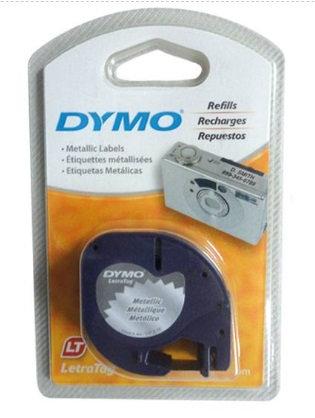 Cinta p/Dymo Letratag plata