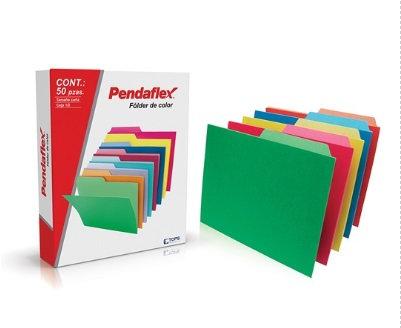 Folder color intenso emplayado c/50