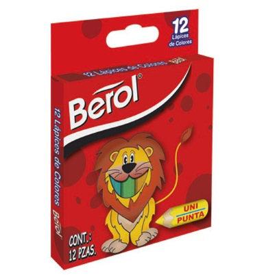 Colores BEROL cortos caja con 12pz