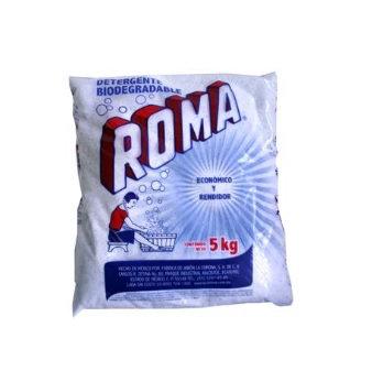DETERGENTE EN POLVO ROMA. BOLSA DE 5 KG