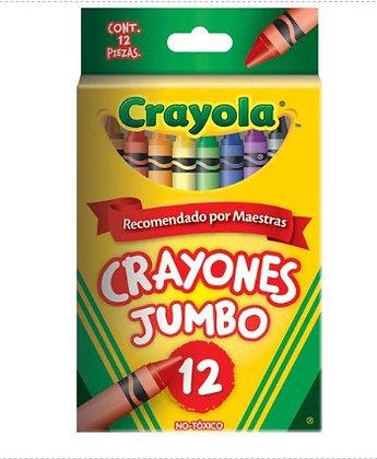 crayones Jumbo 10.16 x 1.12 cm 12