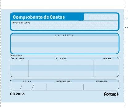 Comprobante de Gastos c/3 blocks
