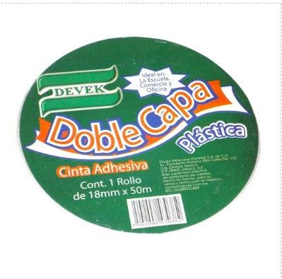 Cinta DOBLE CAPA Blanca 18 mm x 50 mt