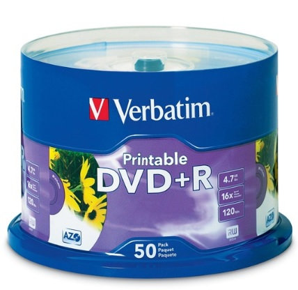 Disco DVD+R 16X 4.7GB Campana con 50 pie