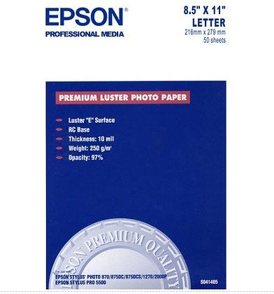 Papel fotografico carta lustre c/50h