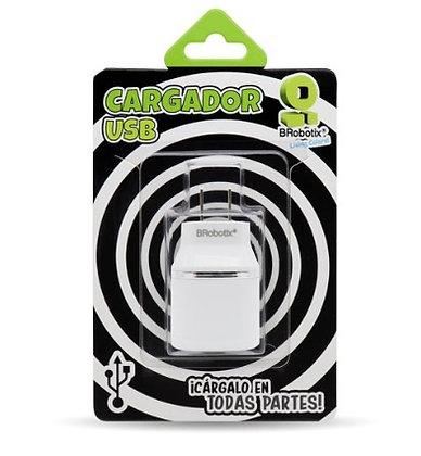 CARGADOR USB DUAL PARA PARED BLANCO