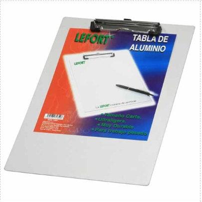 TABLA DE ALUMINIO CON CLIP CARTA
