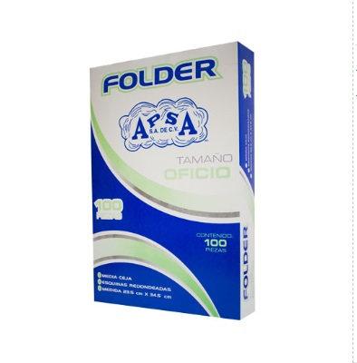 Folder crema tamaño oficio