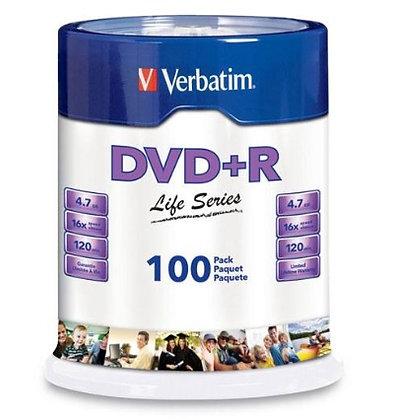 DVD+R LIFE SERIES 16X 100PK SP ST W/P