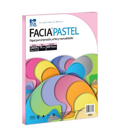 PAPEL FACIA PASTEL CARTA COLOR ROSA