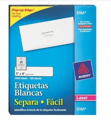 Etiquetas blancas 1 x4 92296-C