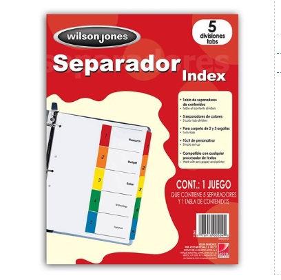 SEPARADOR WILSON JONES 5 DIV