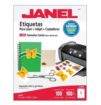 Etiqueta blanca carta 100 etiquetas.ÿ
