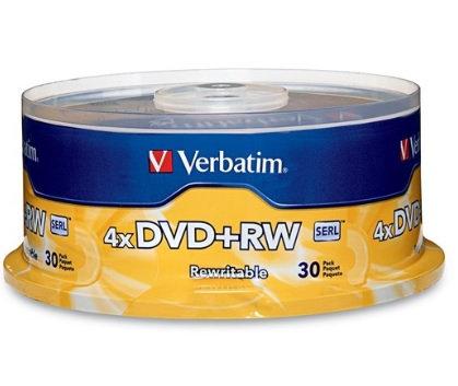 Disco DVD+RW 4X 4.7 GB Campana con 30 pi