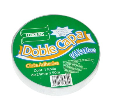 Cinta DOBLE CAPA Blanca 24 mm x 50 mt
