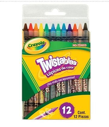 LM-12 lapices de colores twistables