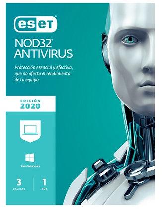ESET NOD32 ANTIVIRUS 3LIC V13 V2020
