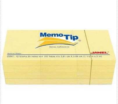 Block de notas amarillo de 1.5x2 pulg