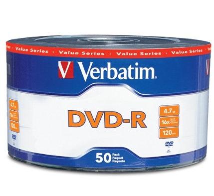 Disco DVD-R 16X 4.7GB Paquete con 50