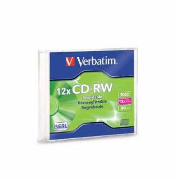 CD-RW 12X Alta velocidad Verbatim Ind