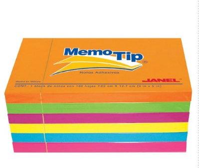 Nota adhesiva Neon con 100 hojas
