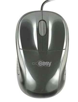 MOUSE OPTICO ALAMBRICO NEGRO