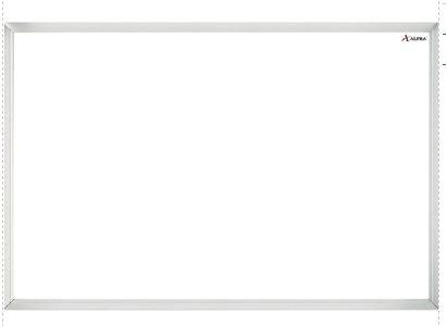 Pizarron blanco Alfra de 30x40 cm
