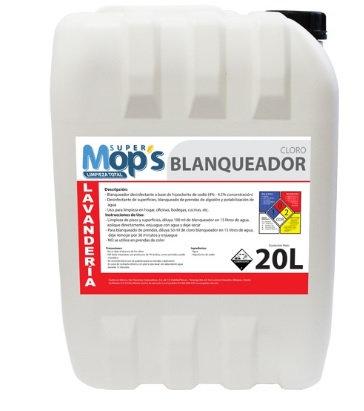 BLANQUEADOR DE 20 L. MARCA SUPER MOPS