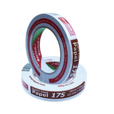 LM-CINTA DOBLE CAPA PAPEL 18MM X 33MTS