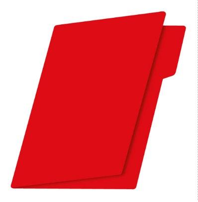 Fólder t. carta rojo intenso c/25