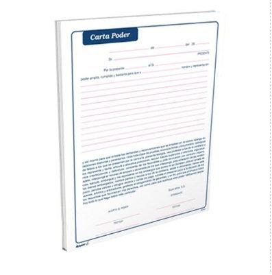 Carta poder t/carta block c/50 hojas