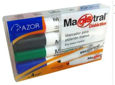 MARCADOR MAGISTRAL DIDACTICO C/4 NRAV