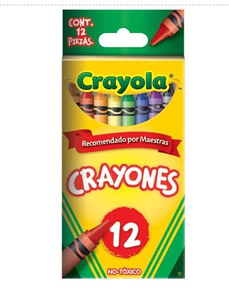 Crayones Estándar 9.21x.7.9 cm 12pz