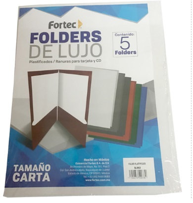 LM-Folder laminado cta color blanco c/5