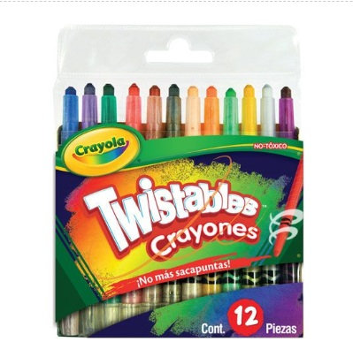 12 mini crayones twistables 12 pzas