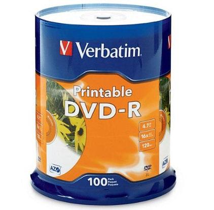DVD-R 4.7GB 16X Blanco, imprimible 100 p