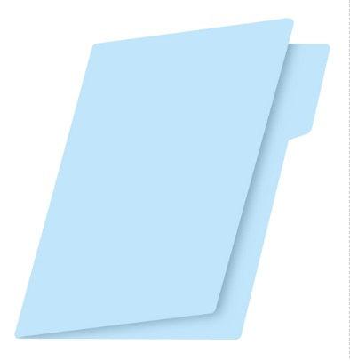 Fólder tamaño carta azul c/100