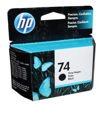Cartucho de tinta negra HP 74 CB335WL