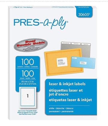 Etiqueta Presaply de 21,59 X 27,94 cm